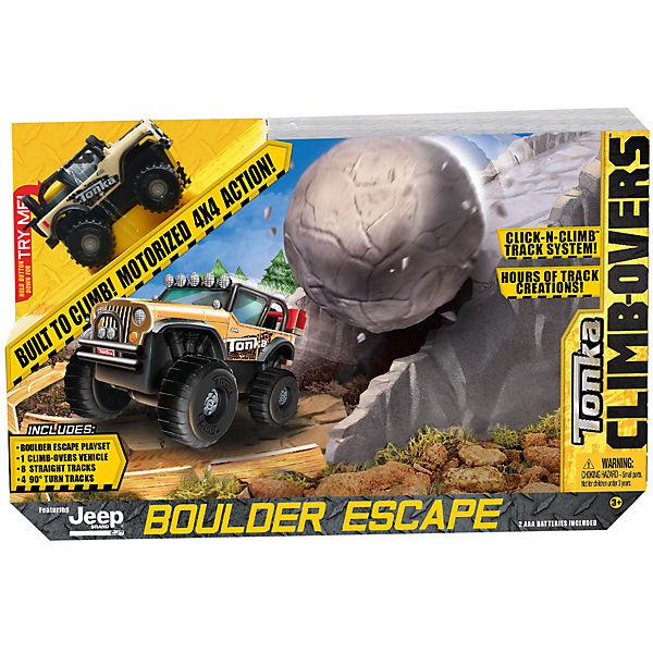 Большой трек Tonka Climb-overs с машинкой Jeep «Boulder Escape», Tonka