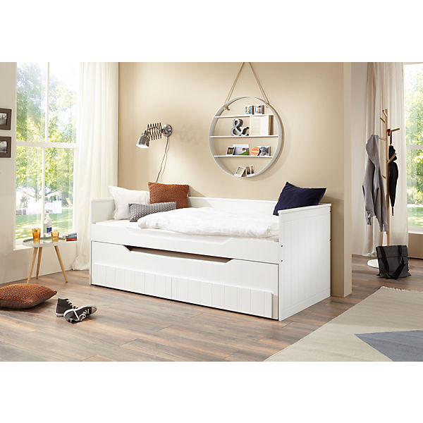 funktionsbett ronny mdf platte wei lackiert 2 lf im. Black Bedroom Furniture Sets. Home Design Ideas