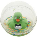 Развивающая игрушка Уточка с плавающими шариками, зеленая, Fisher Price