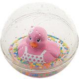 Развивающая игрушка Уточка с плавающими шариками, розовая, Fisher Price