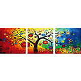 """Роспись по номерам, триптих """"Древо"""" 50*50 см (3 картины в наборе)"""