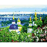 """Роспись по номерам """"Церкви и город"""" 40*50 см"""
