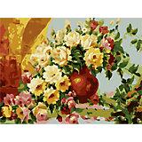 """Роспись по номерам """"Чайные розы"""" 40*50 см, Антонио Джанильятти"""
