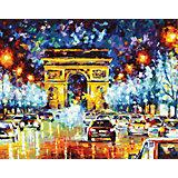 """Роспись по номерам """"Триумфальная арка в Париже"""" 40*50 см"""