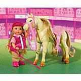 "Кукла ""Еви на прыгающей лошади"", Simba"