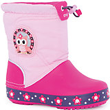 Сапоги Kids' CrocsLights LodgePoint Night Owl Boot для девочки CROCS