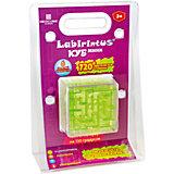 Лабиринтус Куб,  6см, зелёный, прозрачный, Labirintus