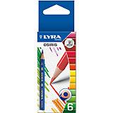 Цветные укороченные треугольные карандаши, 6 шт.