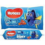 Детские влажные салфетки Рыбка Дори (56 шт.), Huggies