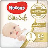 Подгузники Elite Soft (1) до 5кг, 84 шт., Huggies