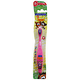 Детская зубная щетка Забавные зверята, от 3-х лет, арт. S-151, LONGA VITA, розовый
