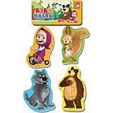 """Мягкие пазлы """"Белка и волк"""", Маша и Медведь, Vladi Toys"""