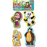 """Мягкие пазлы """"Панда и заяц"""", Маша и Медведь, Vladi Toys"""