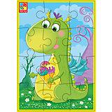 """Мягкие пазлы А5 """"Динозаврик с мороженым"""", Динозаврики, Vladi Toys"""