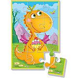 """Мягкие пазлы А5 """"Динозаврик с пирожным"""", Динозаврики, Vladi Toys"""