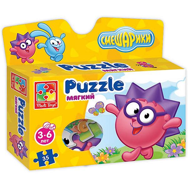 "Мягкие пазлы А4 ""Смешарики"", в коробке, Vladi Toys"