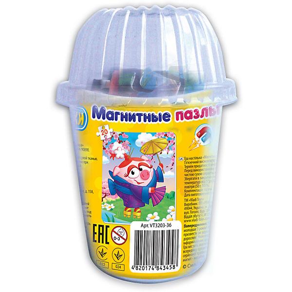 """Мягкие магнитные пазлы в стакане """"Нюша"""", Смешарики, Vladi Toys"""