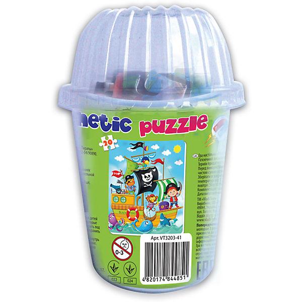 """Мягкие магнитные пазлы в стакане  """"Пираты"""", Vladi Toys"""