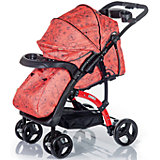 Прогулочная коляска FLORA, Babyhit, коралловый/серый