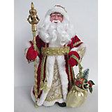 """Новогодняя фигурка """"Дед Мороз в красном костюме"""" (30см, из пластика и ткани)"""