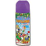 Серпантин синтетический фиолетовый в спрее, 250мл