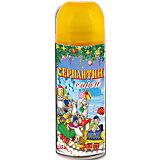 Серпантин синтетический желтый в спрее, 250мл