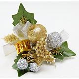 """Украшение новогоднее """"Ягоды"""" золото с серебром из пвх на клипсе"""