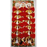 """Новогоднее украшение """"Бант"""" (красный с золотом)"""