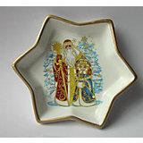 Декоративная тарелка 15х15х2,5см (керамика)