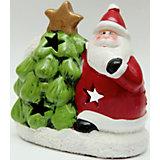 """Подсвечник из керамики """"Дед Мороз с елочкой"""" 12,5*7*14 см"""