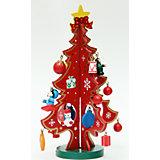 """Деревянное украшение """"Новогодняя елка"""" 29*18,5 см"""