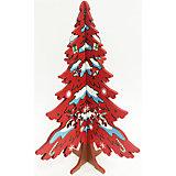 """Новогодняя ель """"Красная ёлочка со снежинкой"""", высота 14,5 см"""
