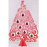 """Новогодняя ель """"Красная Жар-птица"""", высота 37 см"""