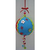 """Новогоднее подвесное украшение """"Шар"""" (полиэстер)  8 см"""