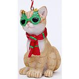 """Украшение """"Кот в шарфике"""" 5*4,5*8,5 см"""