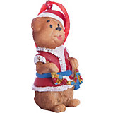 """Украшение """"Мишка в костюме Деда Мороза"""" 3,5*3*8 см"""