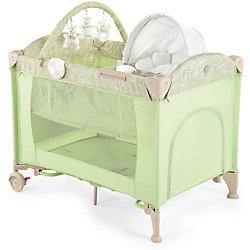 Кровать-манеж LAGOON V2, Happy Baby, зеленый