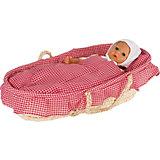 Люлька-корзина для кукол с бельём, goki