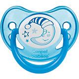 Пустышка анатомическая силиконовая, 0-6 Night Dreams, Canpol Babies, синий