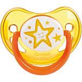 Пустышка анатомическая силиконовая, 0-6 Night Dreams, Canpol Babies, желтый