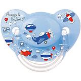 Пустышка анатомическая силиконовая, 6-18 Machines, Canpol Babies, голубой