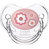 Пустышка анатомическая силиконовая, 6-18 Newborn baby, Canpol Babies, розовый