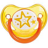 Пустышка анатомическая силиконовая, 6-18 Night Dreams, Canpol Babies, желтый