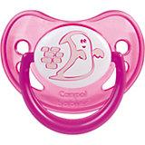 Пустышка анатомическая силиконовая, 6-18 Night Dreams, Canpol Babies, розовый