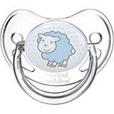 Пустышка анатомическая силиконовая, 6-18 Transparent, Canpol Babies, овечка