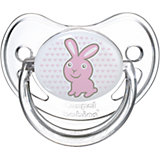 Пустышка анатомическая силиконовая, 6-18 Transparent, Canpol Babies, зайка