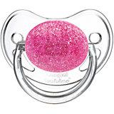Пустышка круглая латексная, 0-6 Moonlight, Canpol Babies, розовый