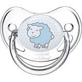 Пустышка круглая силиконовая 18+ Transparent, Canpol Babies, овечка