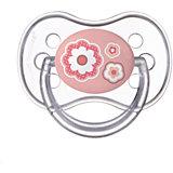 Пустышка круглая силиконовая, 0-6 Newborn baby, Canpol Babies, розовый