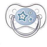 Пустышка круглая силиконовая, 0-6 Newborn baby, Canpol Babies, голубой